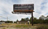 在美国中期选举前创作的政治广告牌