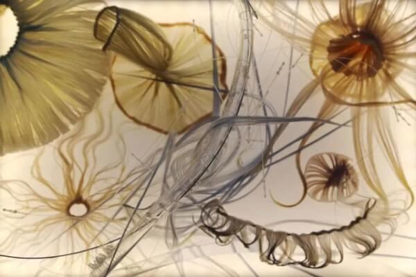 邵纯,《未来风水》,2020,电子软雕塑,尺寸可变。